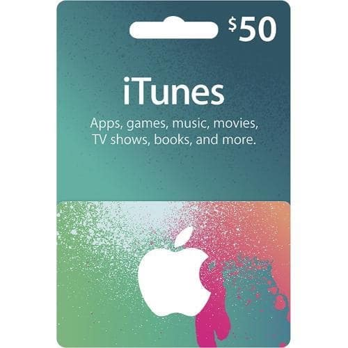 image relating to Itunes Printable Gift Card known as iTunes Reward Card - $50