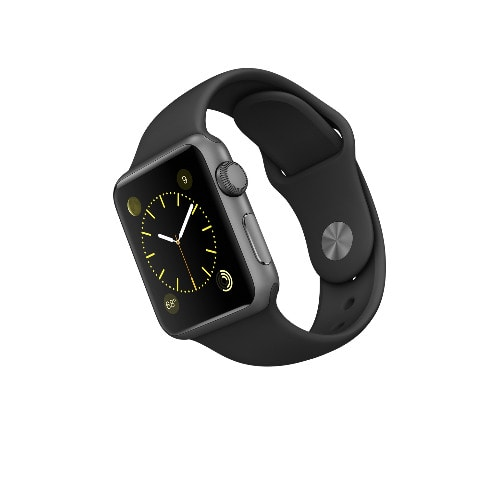 finest selection 789d1 50a72 iWatch Sport: Space Grey Aluminium Case with Black Sport Band